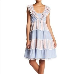 NWT Romeo & Juliet Couture Pompom Tiered Dress